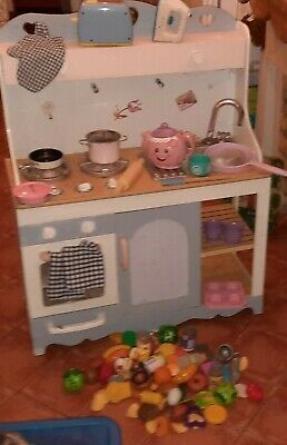 £70 • Buy Wooden Kitchen Toy ELC Teapot Toaster Pots Pans Play Food Accessories Cottage