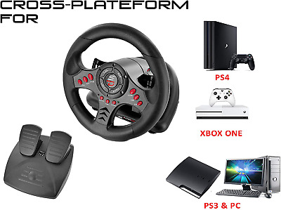 £57.99 • Buy Xbox One Steering Wheel Pedal Set PS4 PS3 Pc Gaming Racing Driving Simulator
