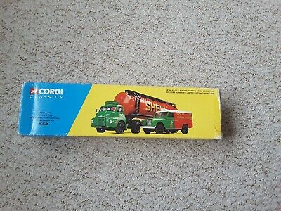 £20 • Buy Corgi 31005 Shell/BP Bedford S Tyre Ariculated Cylindrical Tanker & Land...