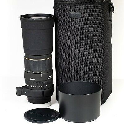 View Details Sigma APO DG 170-500mm F/5.0-6.3 - Sony A Mount Telephoto Zoom Lens • 215£