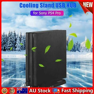 AU19.49 • Buy Vertical Stand Cooling Fan Dock W/3 SB HUB For Playstation PS4 Pro Console Hot