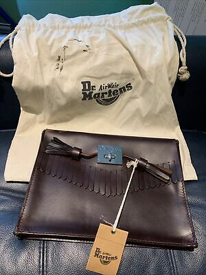 £25 • Buy Dr Martens Fringe Clutch Bag Butter Scotch Orleans Tan Brown Leather New Tag
