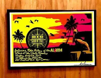 $9.99 • Buy BIG COUNTRY CONCERT GIG POSTER FLA PUNK 80s NEW WAVE Mike Peters THE ALARM