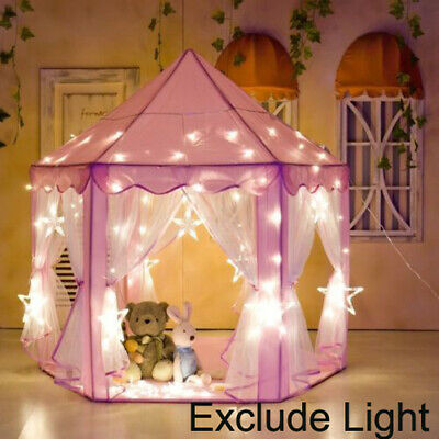 £13.99 • Buy Pink Princess Castle House Indoor/Outdoor Kids Play Tent For Girls W/ LED Lights
