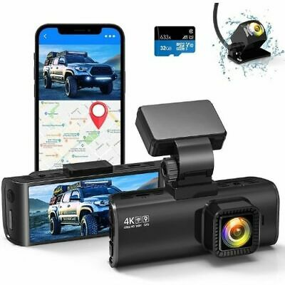 AU186.87 • Buy REDTIGER 4K Dual Dash Cam Built-in WiFi GPS Front 4K/2.5K And Rear 1080P Dual...