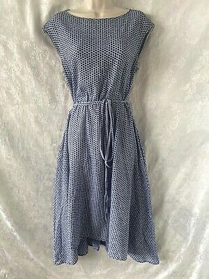 AU31 • Buy Gorgeous   SCANLAN THEODORE   Blue Broderie Anglaise Cotton Dress Size SM