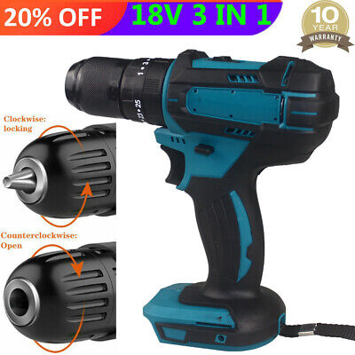£32.82 • Buy For Makita Cordless Brushless Impact Hammer Drill Body Only DHP484Z 3 In 1