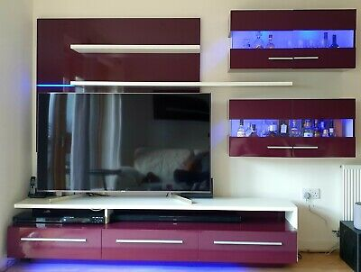 £99 • Buy Living Room Furniture Set Tv Unit Display Stand Wall Mounted Cupboard Cabinet