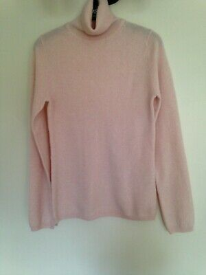 AU19.68 • Buy John Lewis Baby Pink Small Cashmere Polo Neck Jumper Used Ex Con