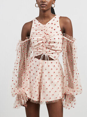 AU195 • Buy BNWT Alice Mccall Stardust Frill Playsuit Size 14 RRP $395