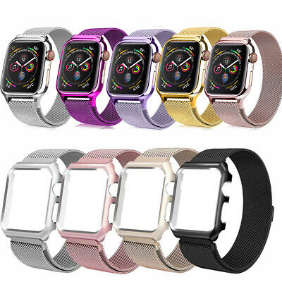 AU15.64 • Buy Magnetic Loop Milanese Band Strap Metal For Apple Watch Strap 44mm/40mm SE/6/5/4