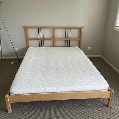 AU50 • Buy Ikea Queen Bed Frame With Ikea Mattress