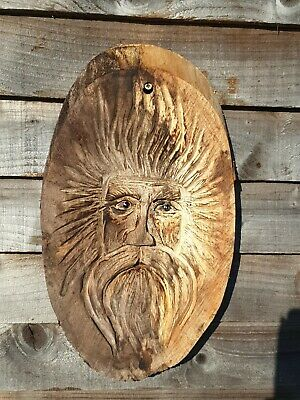 £39.99 • Buy Chainsaw Carved Green Man / Wood Spirit