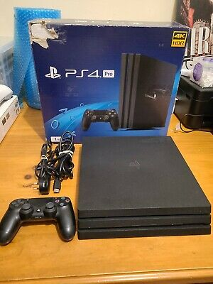 AU399.90 • Buy Sony Playstation 4 (PS4) Pro 1tb Jet Black Console (Boxed With Inserts)