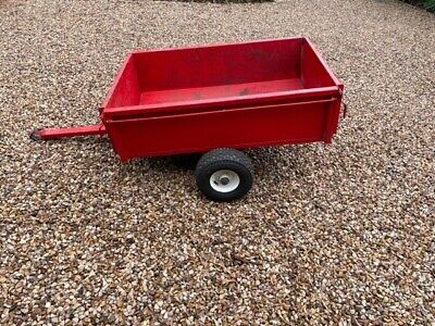AU200 • Buy Steel Ride On Lawn Mower Trailer With Drop Down End Panels & Tipping Function
