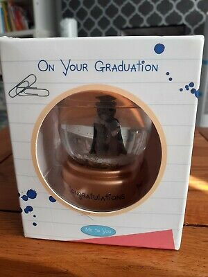 £4.99 • Buy Me To You BNWB  On Your Graduation  Snow Globe With Stars.
