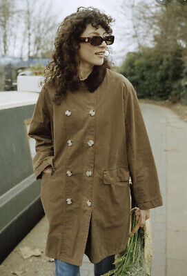 AU93.79 • Buy BNWT NEW Barbour Alexa Chung Maud Double Breasted Coat Brown Size 14 Oversize