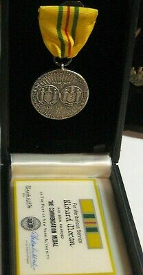 £54.38 • Buy Rare New York Port Authority Meritorious Commendation Medal Named & Boxed 1974