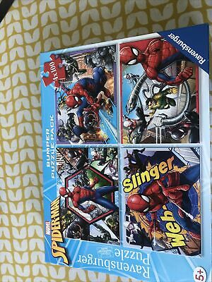 £2.99 • Buy Spiderman Bumper Puzzle Pack 4 Puzzles In Box