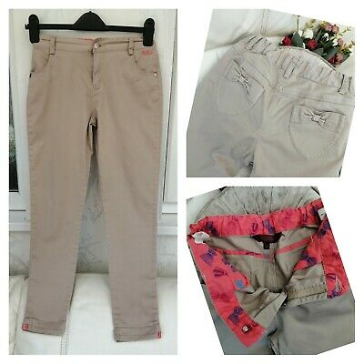 £5.99 • Buy Girls TED BAKER Trousers Age 11, Beige, Sand Chinos, Ankle Grazes, Comfort Pants