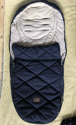 £40 • Buy Mamas And Papas Cosytoes Pushchair Navy Quilted Baby Fleece Lined Footmuff