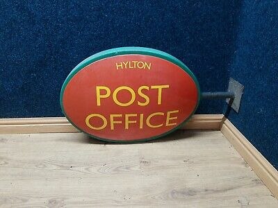 £95 • Buy Original Vintage Post Office Shop Wall Sign Double Sided