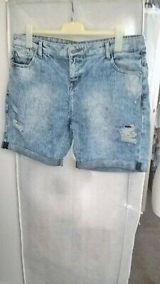 £5.99 • Buy Lovely Denim & Co Distressed Shorts - Size 16