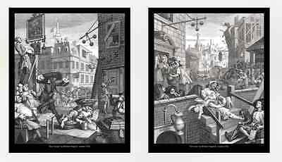 William Hogarth, Gin Lane And Beer Street, 10x12 Prints • 15£