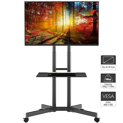 £56.28 • Buy Mobile TV Stand Trolley Cart Mount Exhibition Display For 32 -65  Plasma/LCD/LED