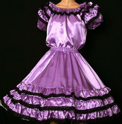 $29.95 • Buy Lavender Square Dance Dress Outfit Skirt, Blouse  Size S/m
