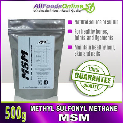 AU19.95 • Buy MSM - Methyl Sulfonyl Methane - Bone, Joint And Ligament Support - Pure - 500g