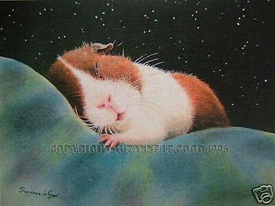 Guinea Pig Art Print Large Signed From Original Painting Dutch Suzanne Le Good • 10£