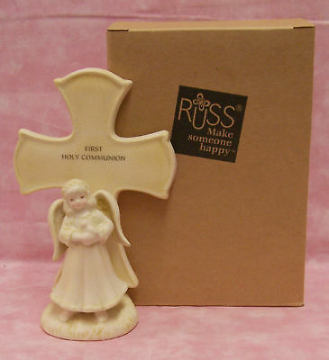 Russ First Holy Communion Figurine Gift Angel Cross Nib • 8.02£