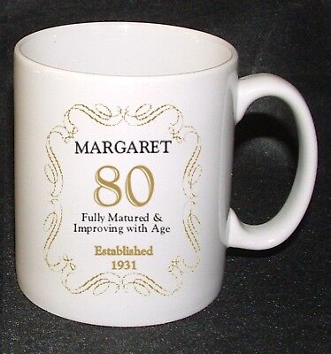 £7.99 • Buy PERSONALISED 80 / 80th BIRTHDAY ANY AGE YEAR MUG CUP GIFT PRESENT BORN IN 1939