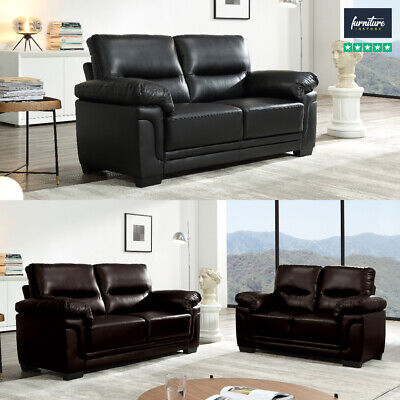 Kansas Leather Sofas, Black Or Brown | Sofa Suites, 3 Seaters, 2 Seaters & More • 849.99£