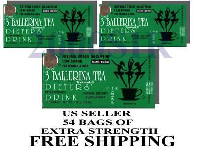 AU18.87 • Buy 3 Box 54 Bags Ballerina Diet Slim Detox Weight Loss Green Tea Supplement US SELL