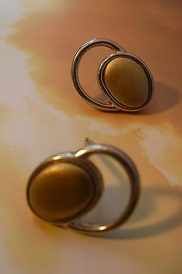 Scottish Ola Gorie 925 Silver & 9ct Yellow Gold Flow Earrings Mixed Metal  • 85£