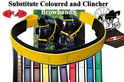 £23.80 • Buy Carriage Driving Bridle Colour Browbands And Metal Clincher