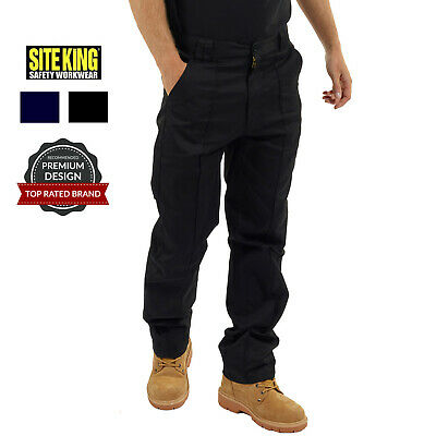 £14.95 • Buy Mens Classic Work Trousers Size 28 To 56 In Black Or Navy By SITE KING
