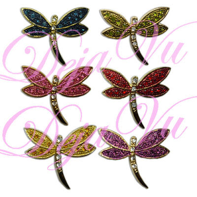 £6.37 • Buy Crystal Gold Plated Dragonfly Brooch Pin Made With Swarovski Elements
