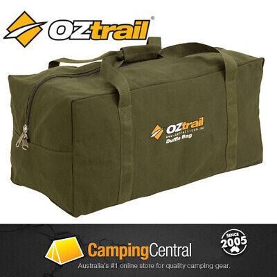 AU29.44 • Buy OZTRAIL CANVAS (LARGE) DUFFLE BAG Luggage Overnight Travel Carry Sports Gym Tote
