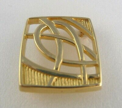 £199.99 • Buy Scottish Ola Gorie Orkney 9ct Yellow Gold Scotia Brooch Celtic Knot