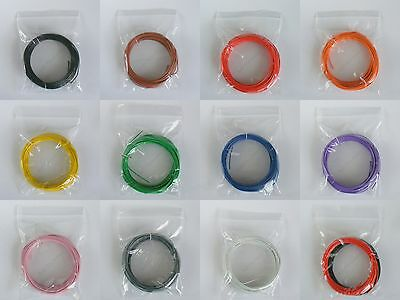 10m 1/0.6mm Equipment Wire 22-23 AWG Single Solid Copper Core 11 Colours WP-0104 • 1.72£