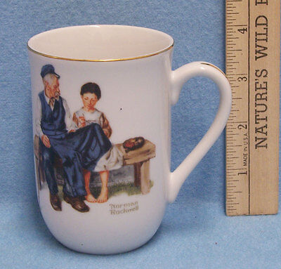 $ CDN10.72 • Buy Mug Cup Norman Rockwell The Lighthouse Keeper's Daughter 1982 Girl Sewing