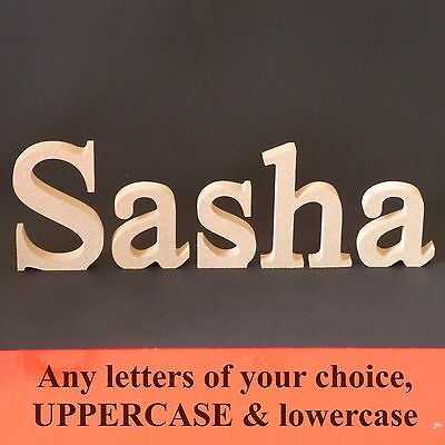 Freestanding Wooden Letters MDF - Unpainted - 125 Mm High 18 Mm Thick • 6.52£