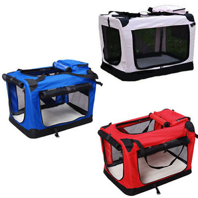 £29.99 • Buy Dog Pet Puppy Fabric Portable Carrier Crate Kennel Bag Cage Fold Travel M L XL