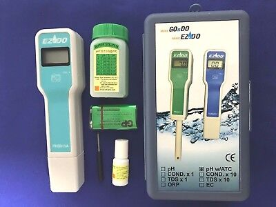 $ CDN56.24 • Buy PH Pen Meter(ATC)+Electrode Extended Up 80mm+Accessories Carry Case #1 QC Water
