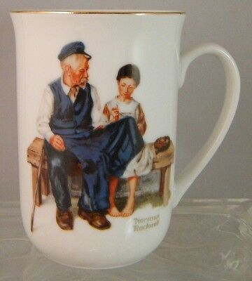 $ CDN11.19 • Buy Vintage 1982 Norman Rockwell Museum 'The Lighthouse Keeper's Daughter' Cup Mug