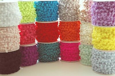 Mini Pompom 6mm  1 3 Or 5 M 17 Colours Ribbon Trim Bobble Braid Christmas  • 1.50£