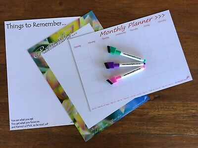 AU29.95 • Buy 3x A4 Fridge Whiteboard Weekly Monthly Magnet Family Planner Organiser +3pens